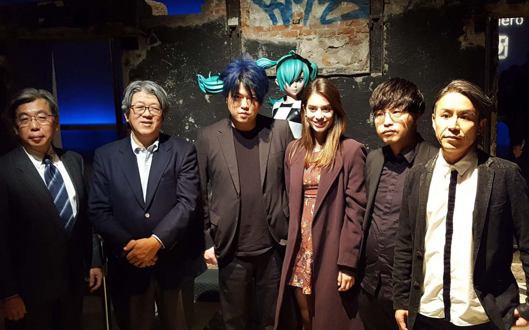 "Alejandra Meco asiste a ""The End"" la ópera virtual del compositor japonés Keiichiro Shibuya"